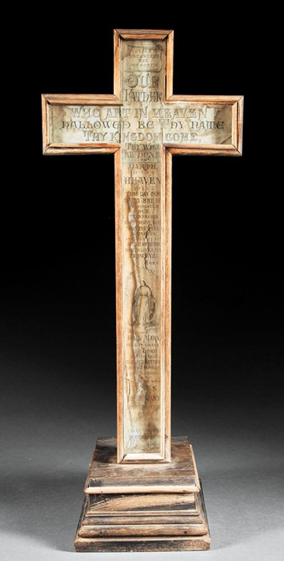 Wood Cross on Stand