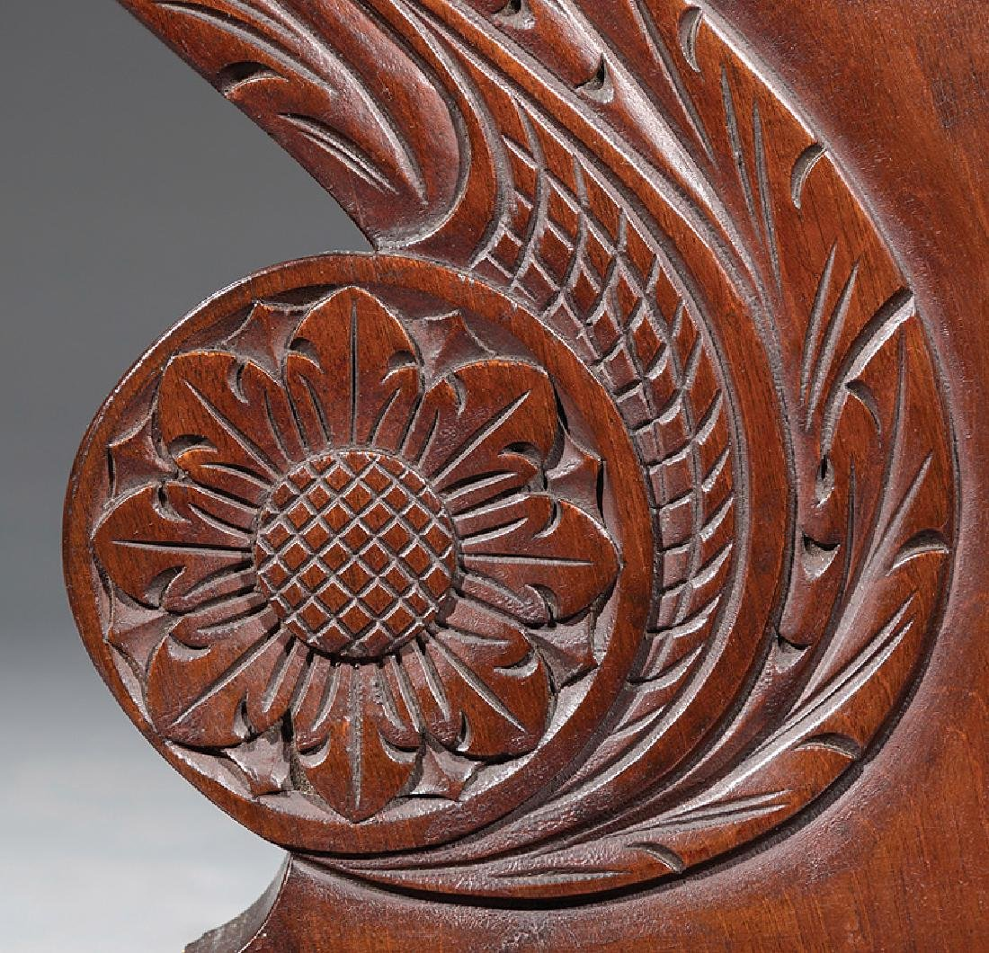 Late Classical Carved Mahogany Cheval Mirror - 4