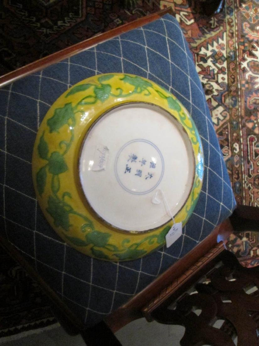 Chinese Green and Yellow Glazed Porcelain Dish - 4