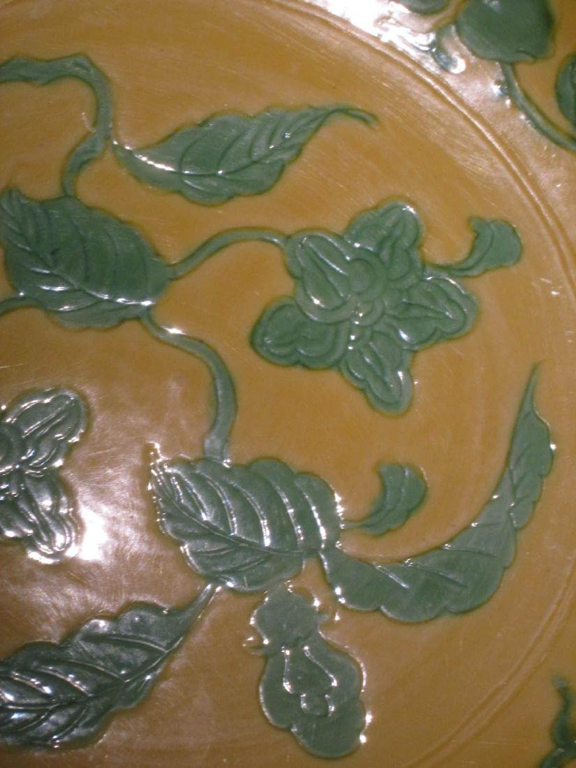 Chinese Green and Yellow Glazed Porcelain Dish - 8