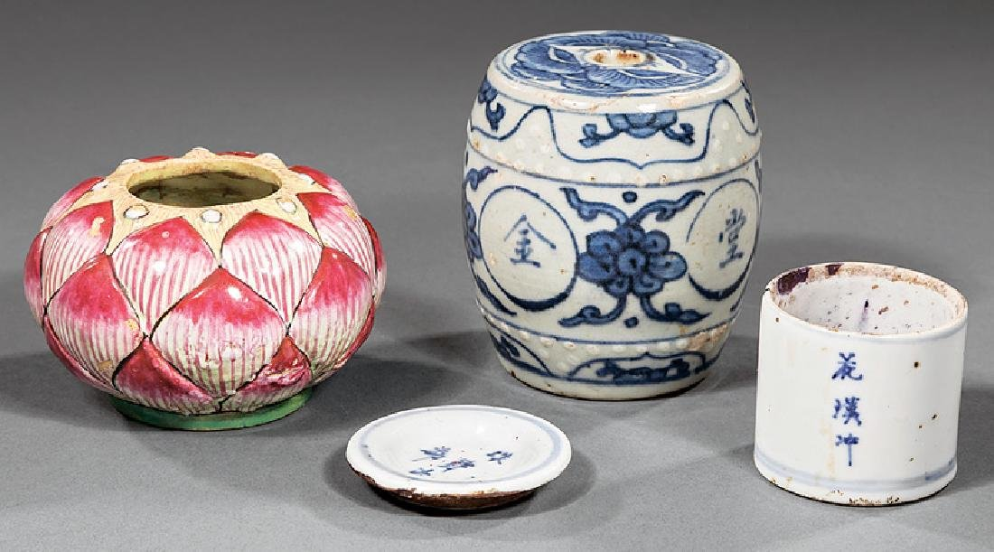 Group of Chinese Porcelain Desk Accessories