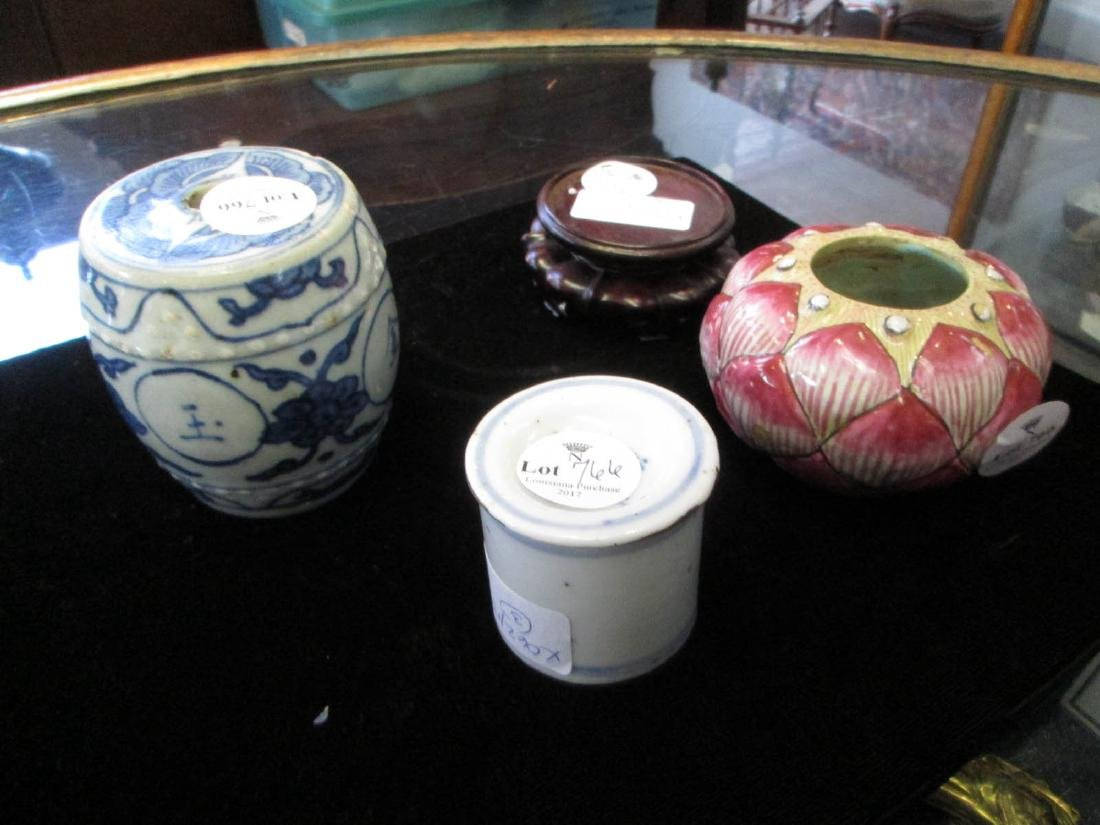 Group of Chinese Porcelain Desk Accessories - 2