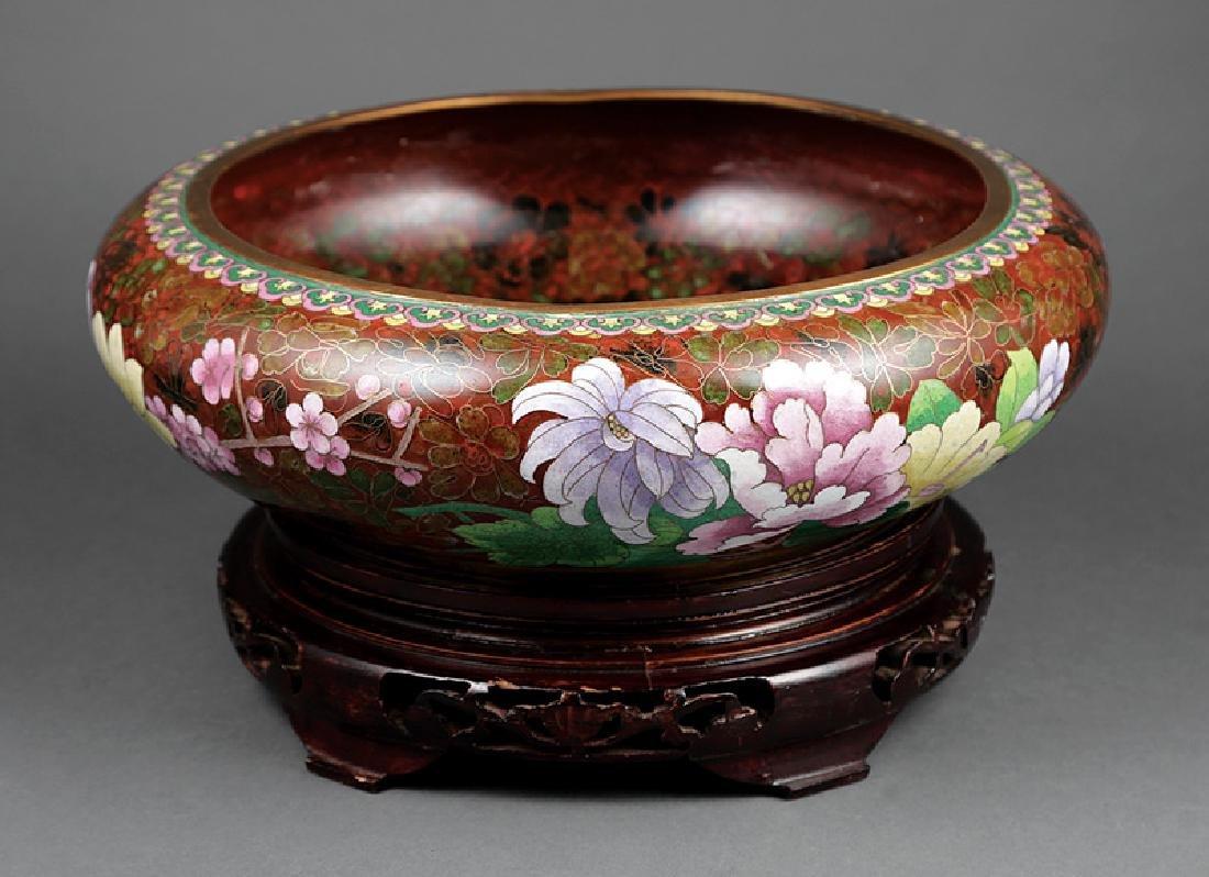 Large Japanese Cloisonne Enamel Bowl
