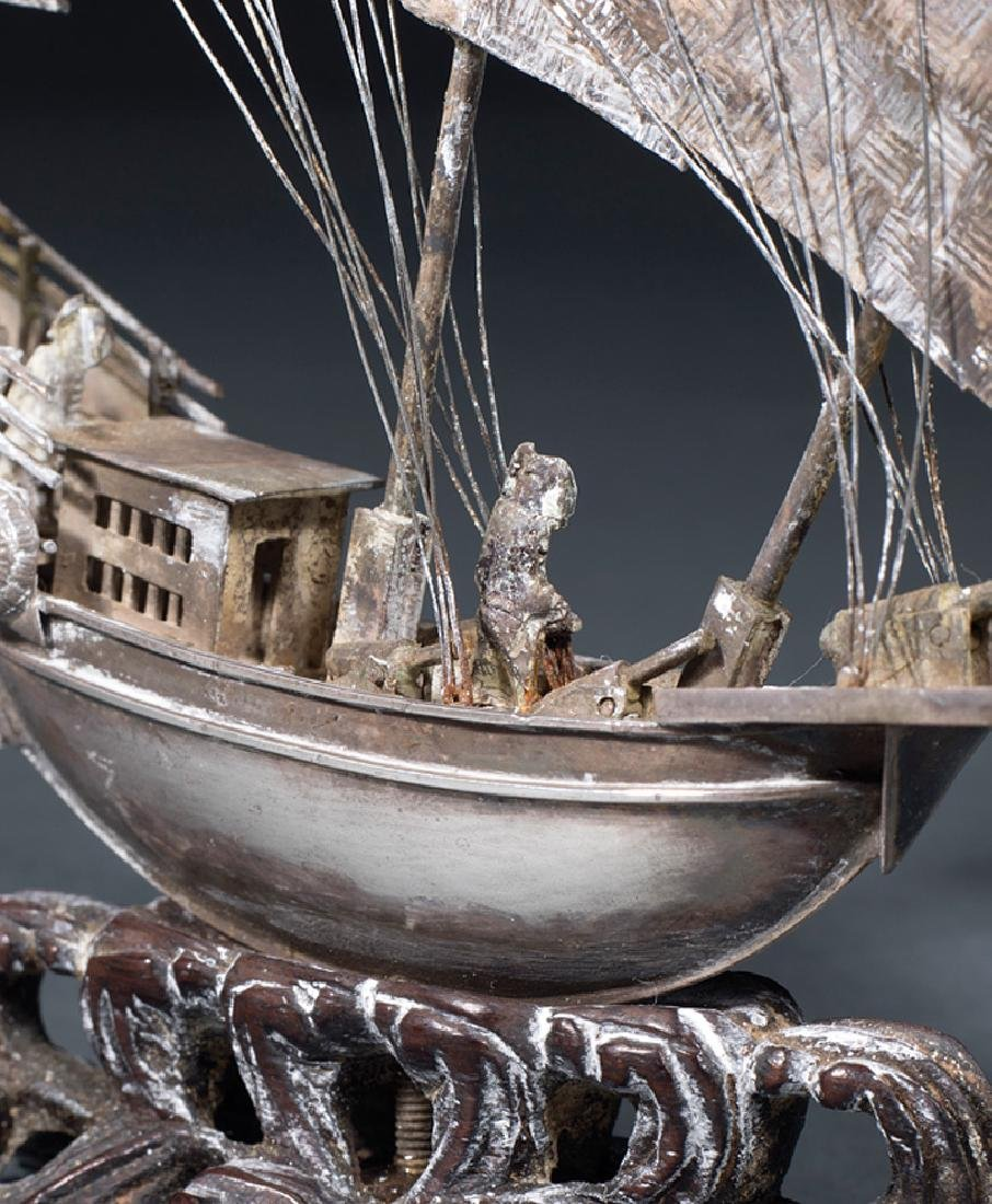 """Chinese Silver """"Junk"""" Boat - 2"""