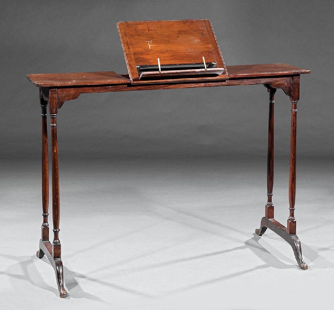 Mahogany Invalid's Desk and Boot Rack