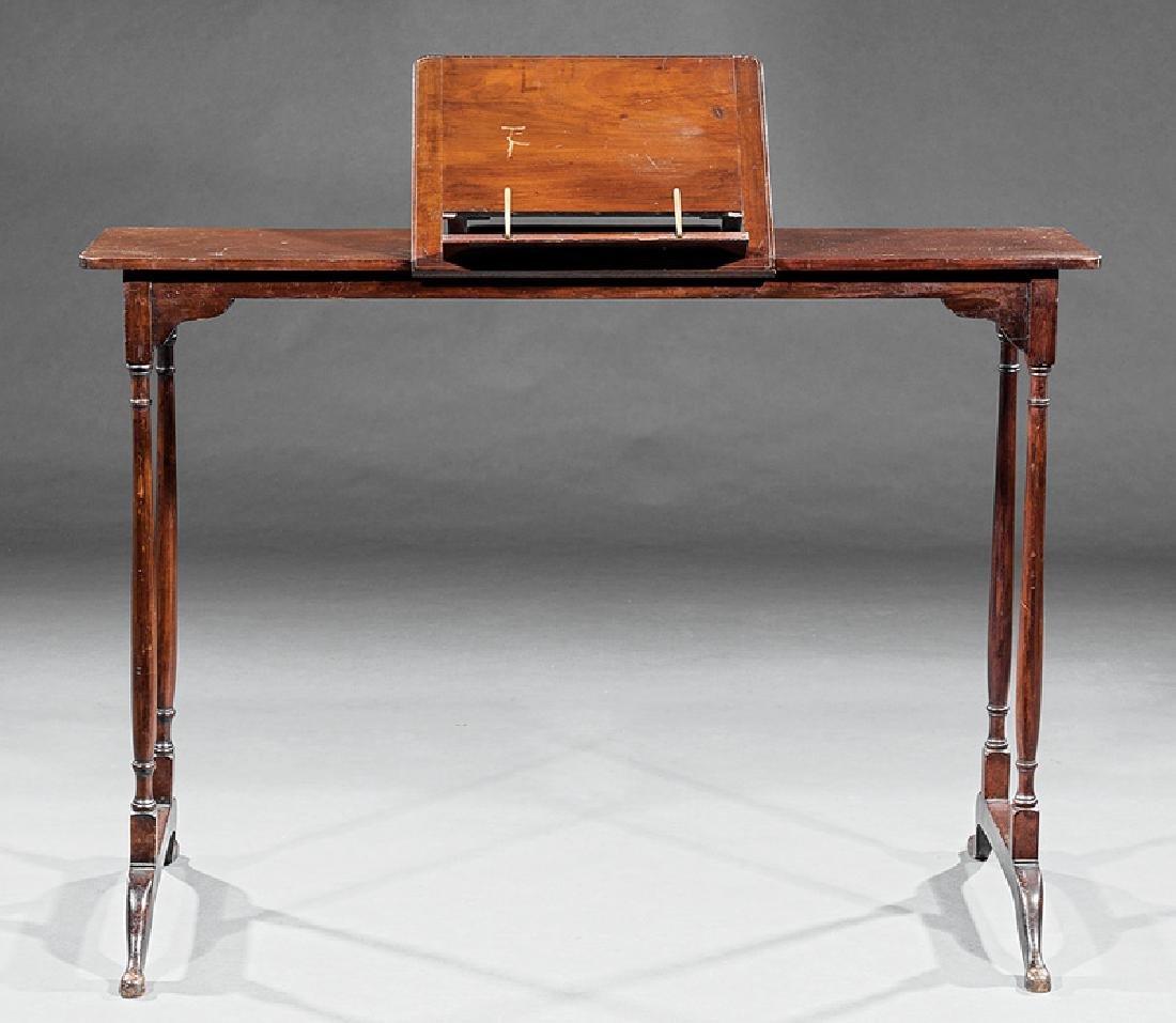 Mahogany Invalid's Desk and Boot Rack - 2