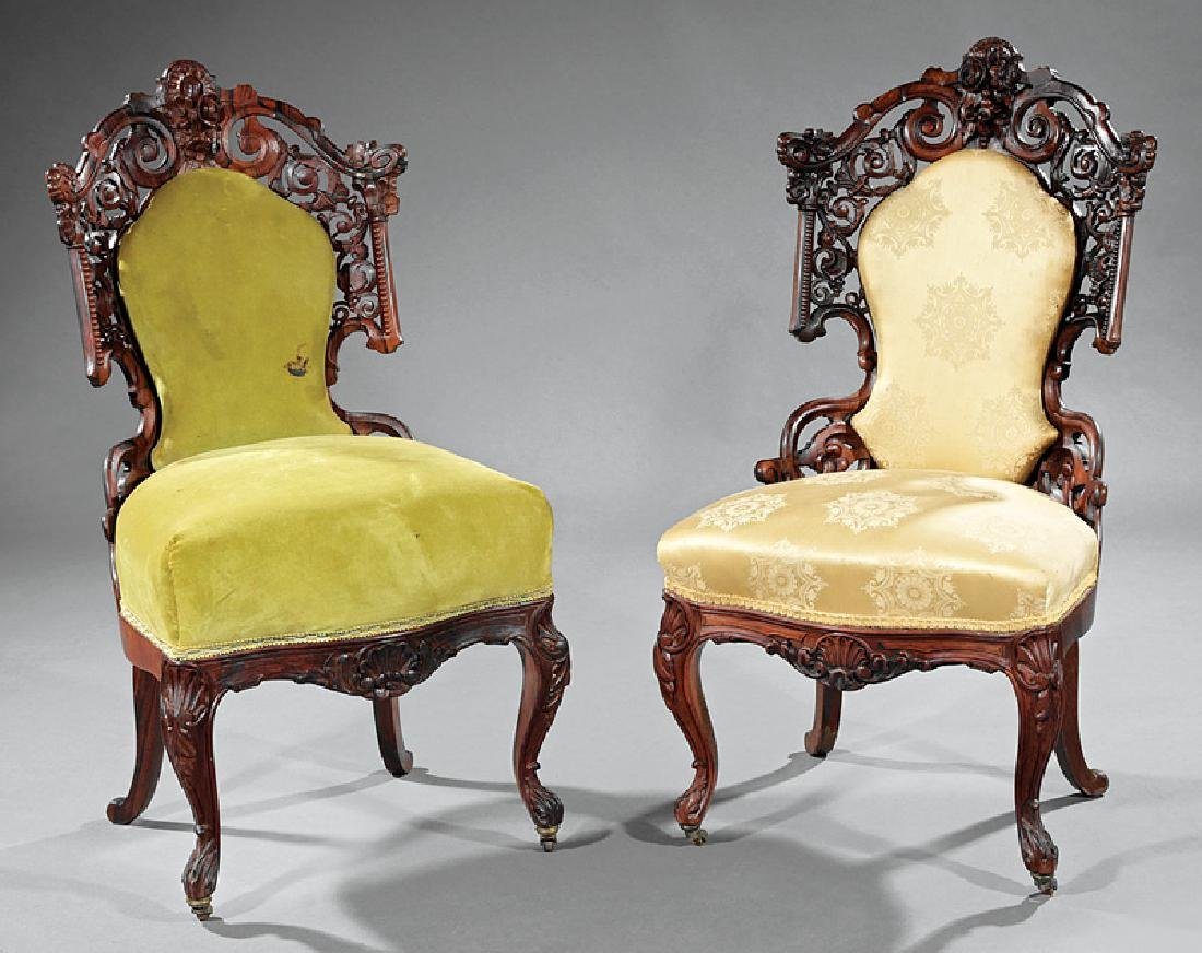 Rosewood Side Chairs prob. Baudouine