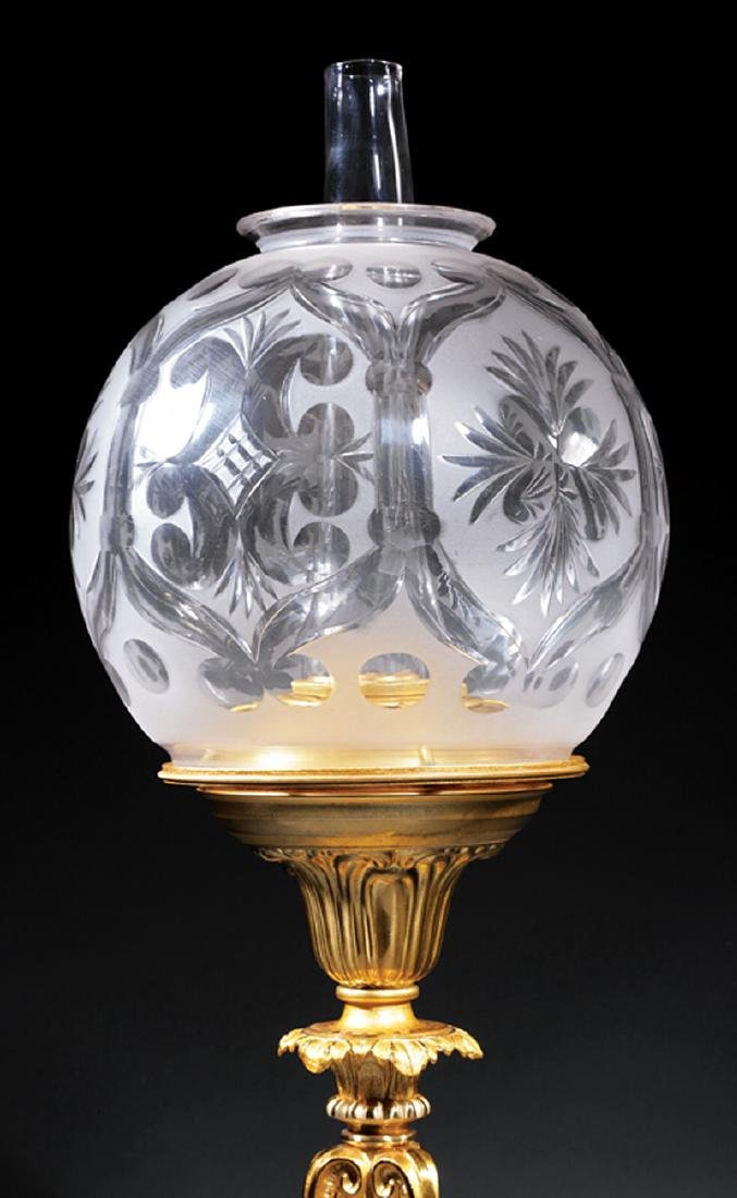 American Gilt Bronze Solar Lamp - 2