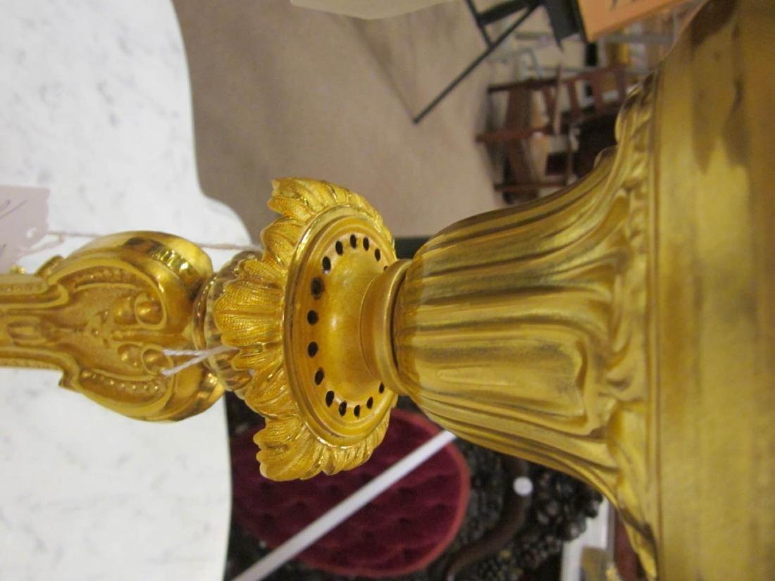 American Gilt Bronze Solar Lamp - 7
