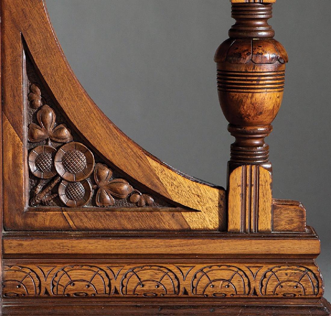 Carved Walnut Dining Table attr. Brooks - 4