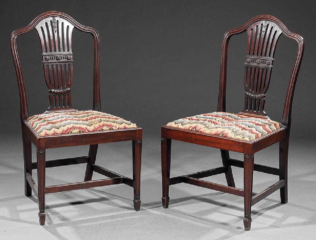 Pair of Hepplewhite-Style Mahogany Side Chairs