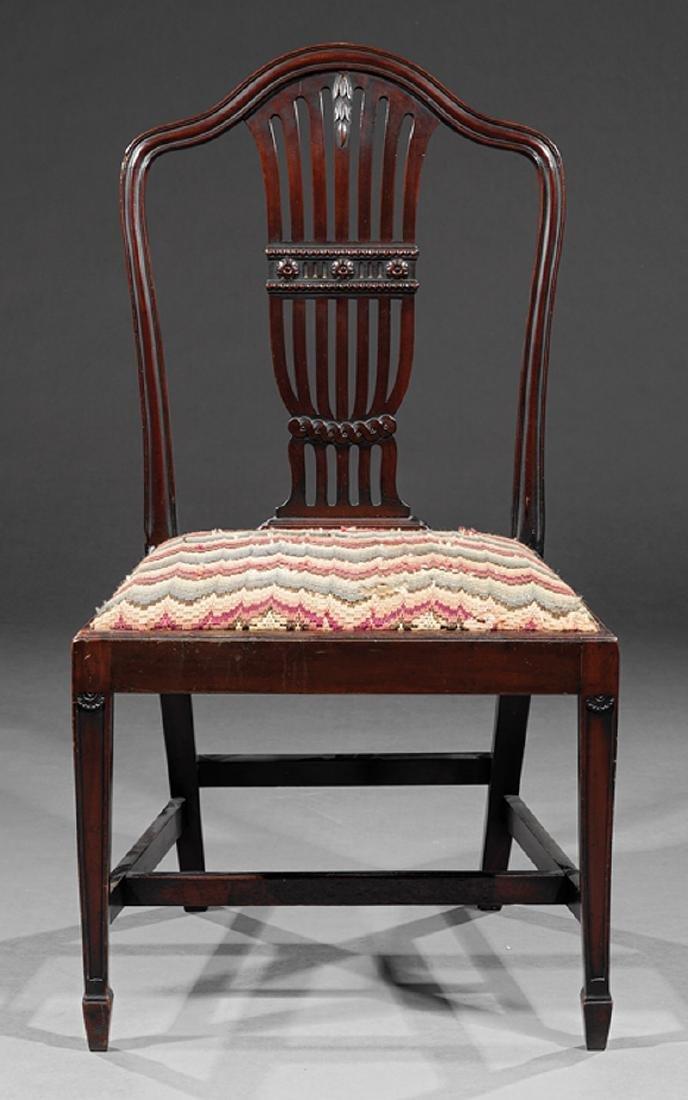 Pair of Hepplewhite-Style Mahogany Side Chairs - 2