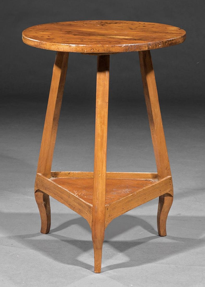 Continental Fruitwood Cricket Table