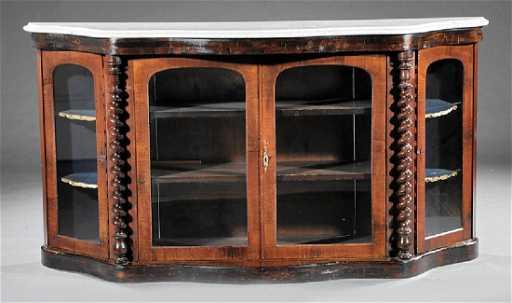 La Credenza In English : English rococo revival carved walnut credenza