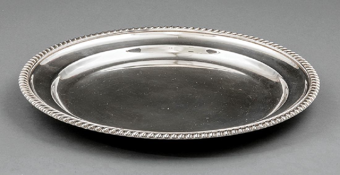 Twelve Georgian-Style Silverplate Dinner Plates