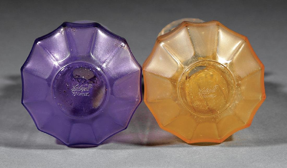 Two Lalique Molded and Frosted Glass Vases - 2