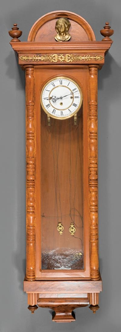 Continental Walnut Regulator Clock