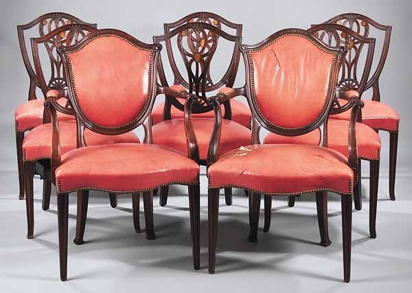 0099: Eight Old Colony Furniture Co. Dining Chairs, Nas