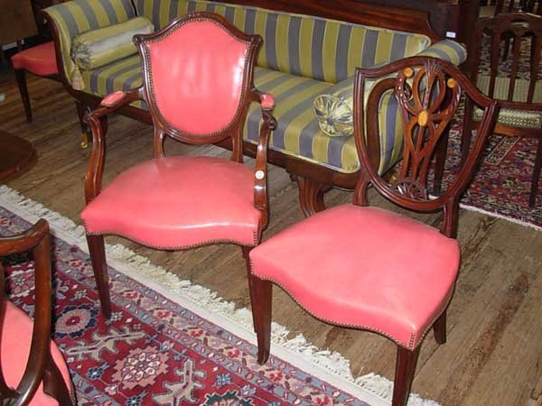 0099: Eight Old Colony Furniture Co. Dining Chairs, Nas - 3