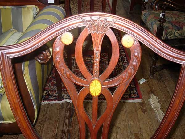 0099: Eight Old Colony Furniture Co. Dining Chairs, Nas - 7