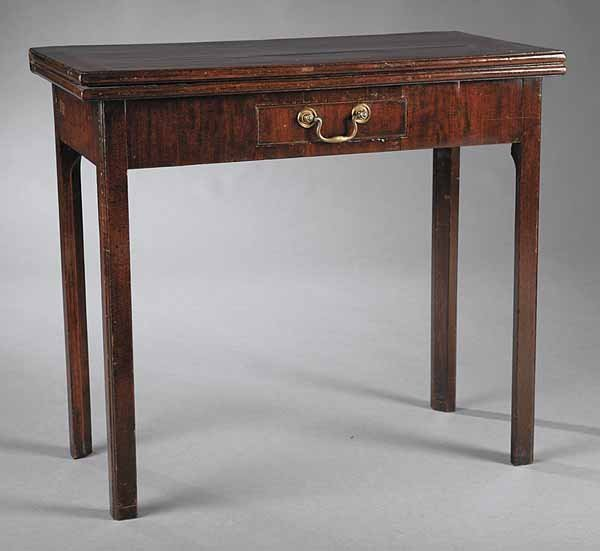 0730: George III Mahogany Games Table