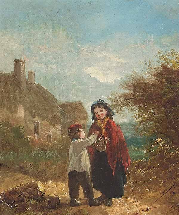 0734: English, oil on canvas, c. 1871