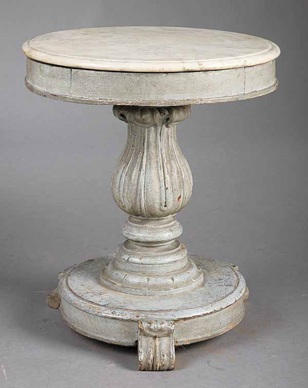 0947: Gustavian Gery Paint Side Table