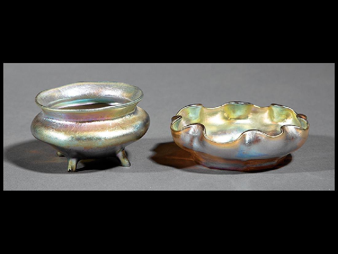 Louis Comfort Tiffany Favrile Glass Salts
