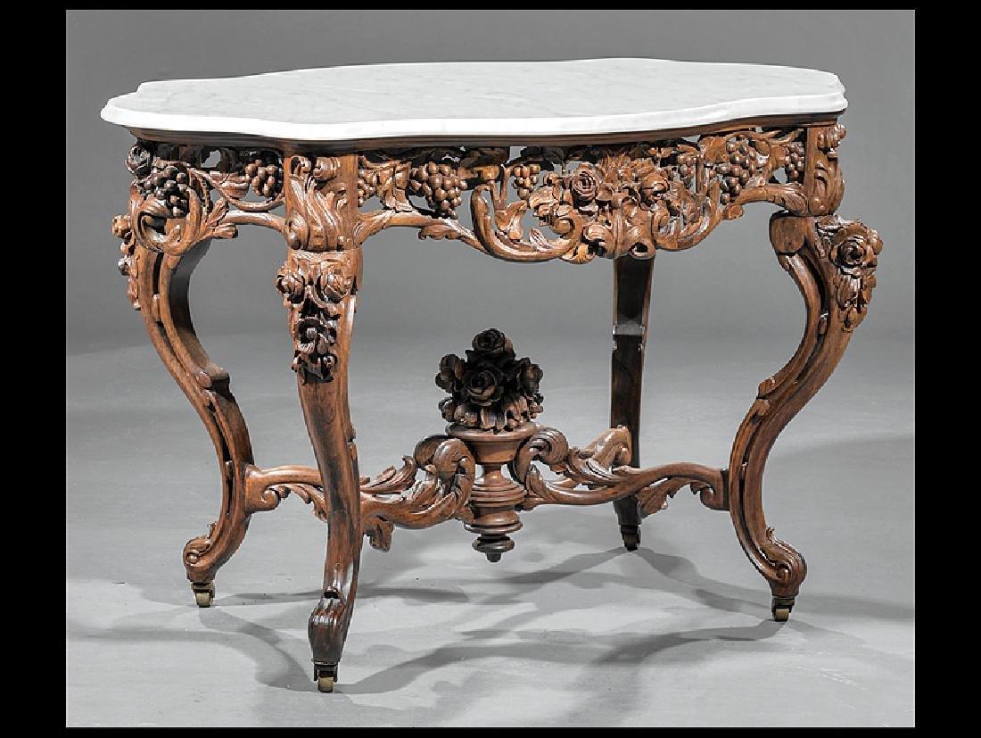 Rosewood Center Table, attr. John Henry Belter