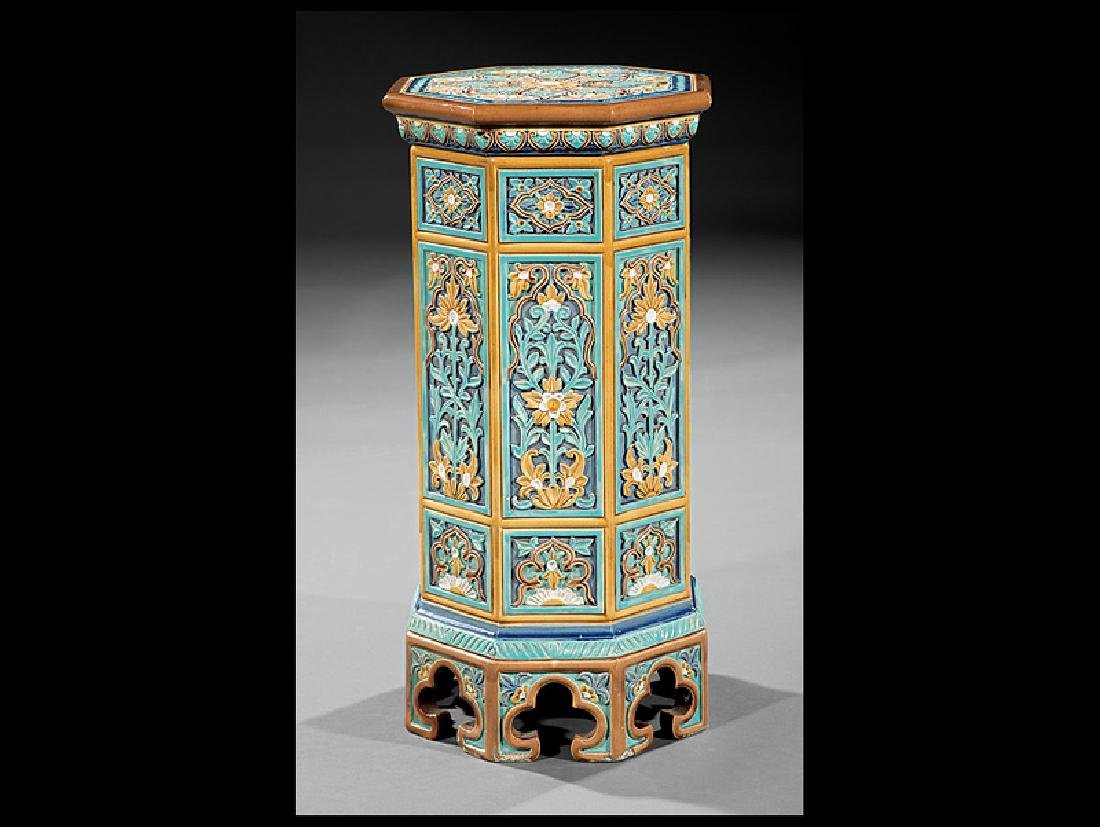 Doulton & Co. Polychrome Faience Pedestal