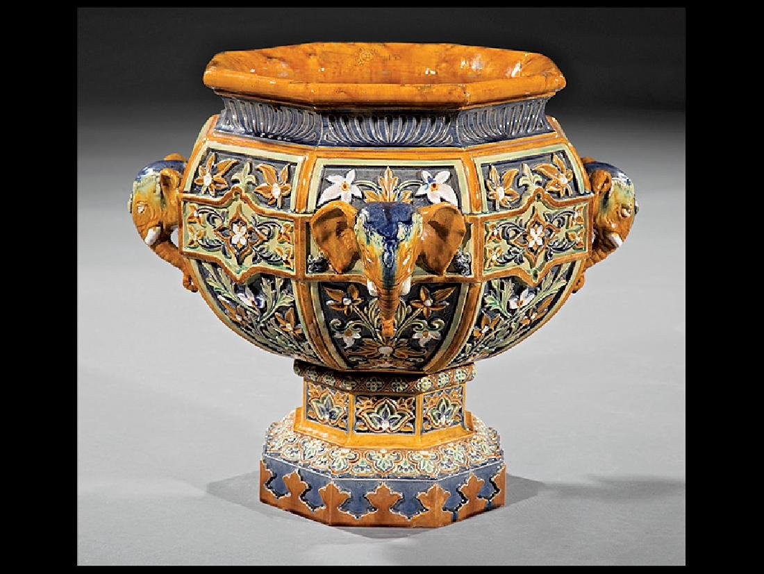 "Doulton & Co. Polychrome Faience ""Indian"" Urn"