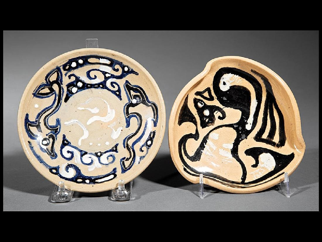 Two Shearwater Art Pottery Table Items