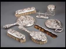 Unger Brothers Sterling Silver Dresser Set