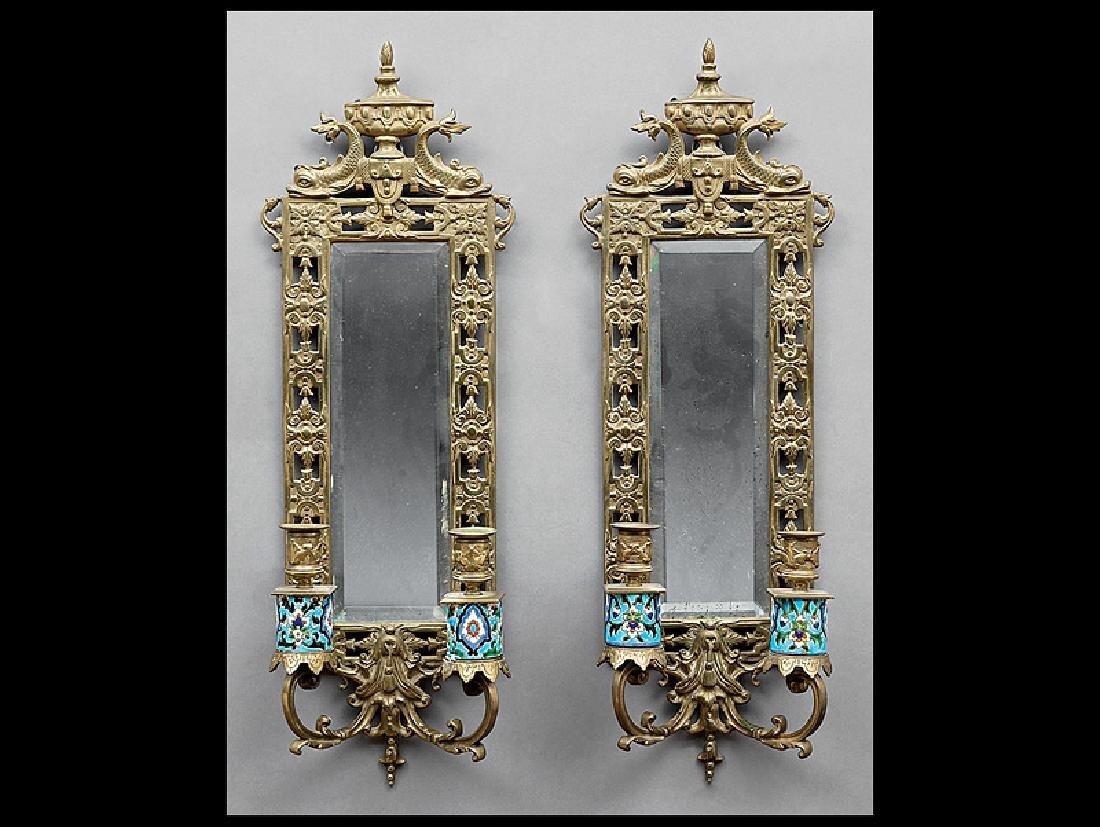 Bradley & Hubbard Two-Light Brass Sconces