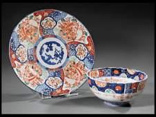 Japanese Imari Porcelain Charger and Bowl