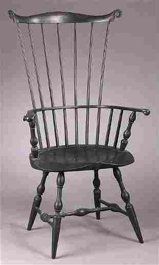 An American Fan-Back Windsor Armchair