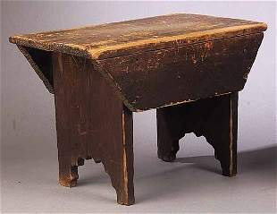 An Antique American Milking Stool in O