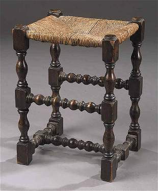 An Antique Queen Anne-Style Oak Joint