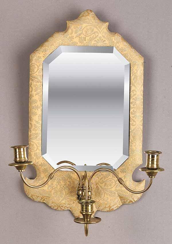 0011: An Antique Three-Light Mirrored Wall S