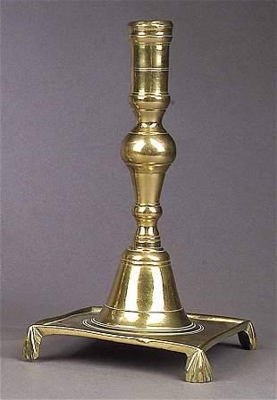 A Good Antique Spanish Cast Brass Cand