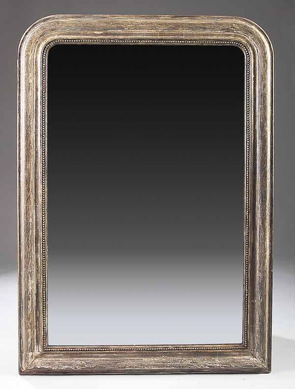 0017: Louis Philippe Silver Giltwood Mirror