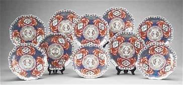 0505 Very Fine Set of Ten Imari Porcelain Plates