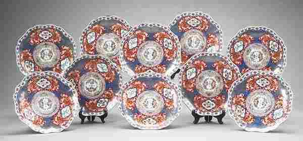 0505: Very Fine Set of Ten Imari Porcelain Plates
