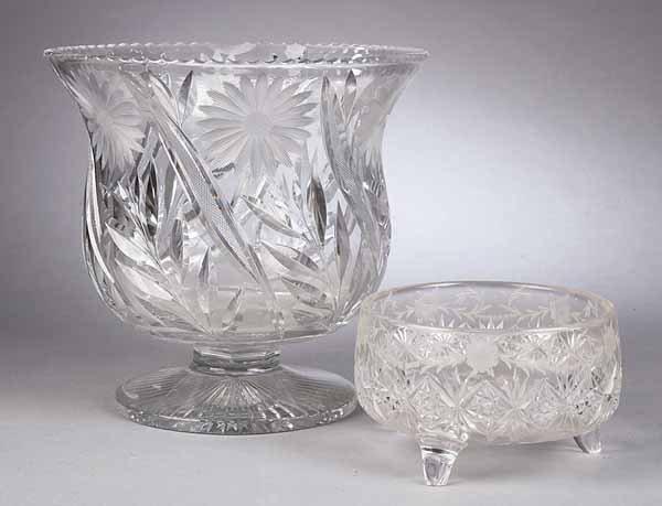 661: American Brilliant Period Cut Glass Deep Bowl