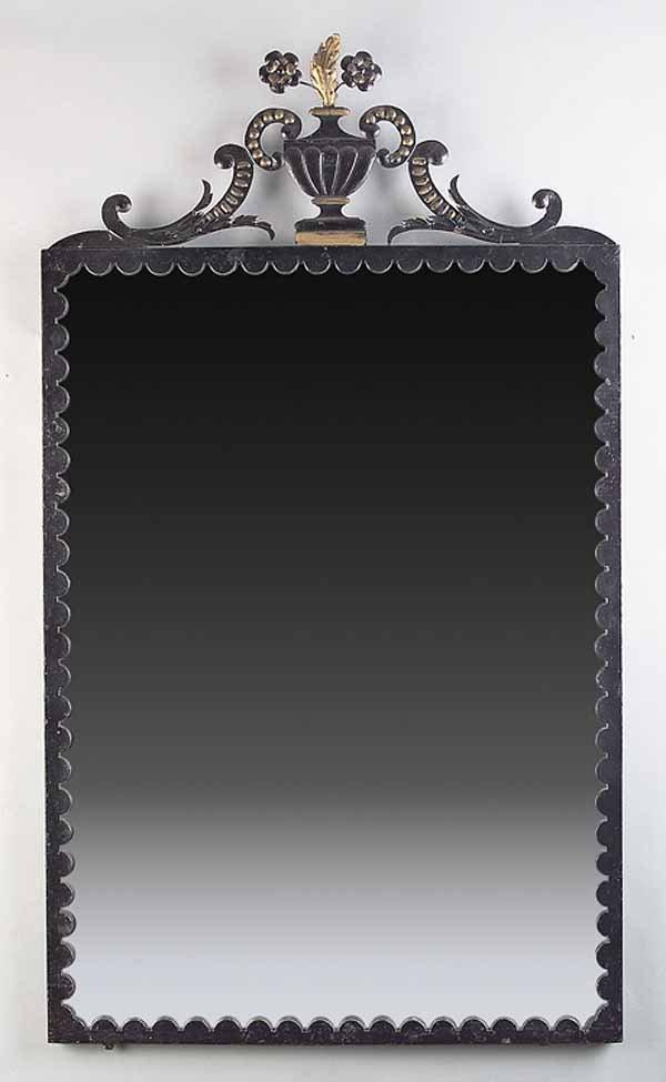 664: Pair of Decorative Patinated Iron Mirrors