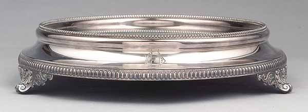 671: Large Victorian Silverplate Plateau