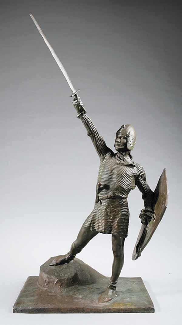 820: Italian Bronze Figure of a Crusader