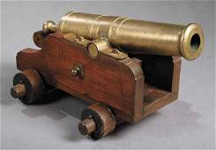 1150 English Brass Signal Cannon or Ships Cannon