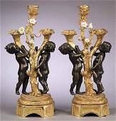 0574 A Pair of Louis XVIStyle Gilt Bronze