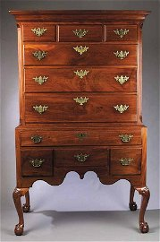 0699: An American Chippendale Carved Mahogan